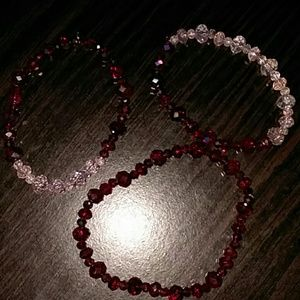 3 beaded bracelets